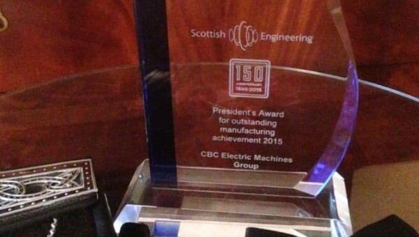 Preformed Windings Recognised at Scottish Engineering Awards